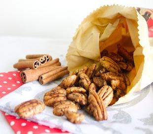 Cinnamon and Maple Glazed Pecans