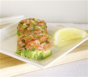 Smoked Salmon & Avocado Stacks