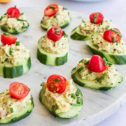 Tuna Avocado Toppers Recipe
