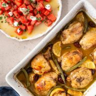 Honey Herbed Chicken with Watermelon Greek Salad