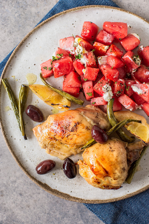 Greek Honey Herbed Chicken Healthy Dinner Recipe Idea