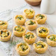 Spinach & Macadamia Feta Tartlets
