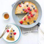 One-pan healthy baked pancake dairy free recipe