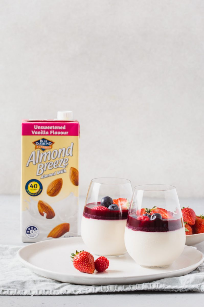 Panna Cotta with Berry Coulis Dairy Free Gluten Free Recipe